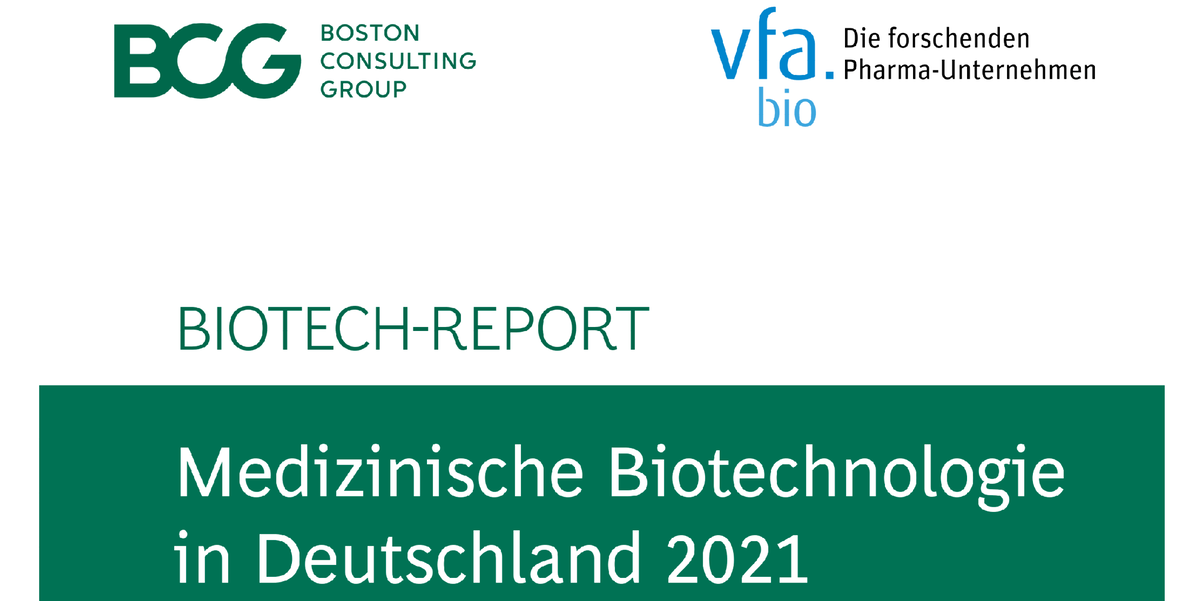 Biotech-Report 2021: Innovationsmotor medizinische Biotechnologie in Deutschland