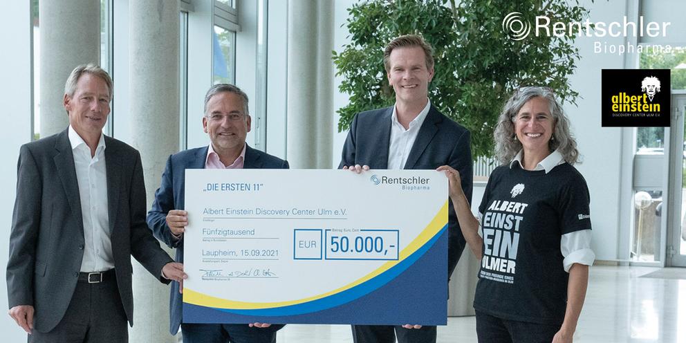 Rentschler Biopharma unterstützt Bau des Albert Einstein Discovery Centers in Ulm mit 50.000 Euro