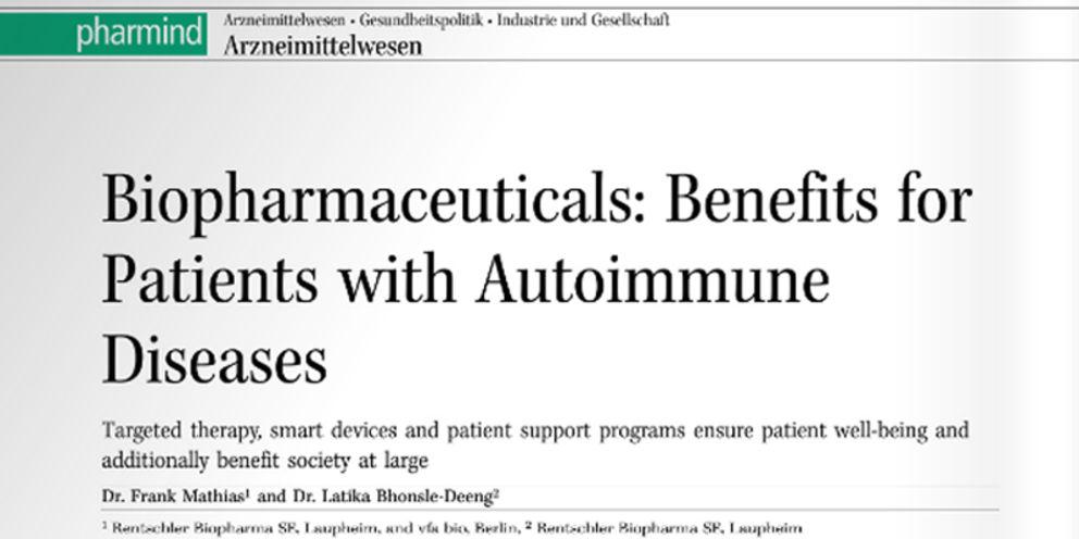 Biopharmaceuticals: Benefits for patients with autoimmune diseases