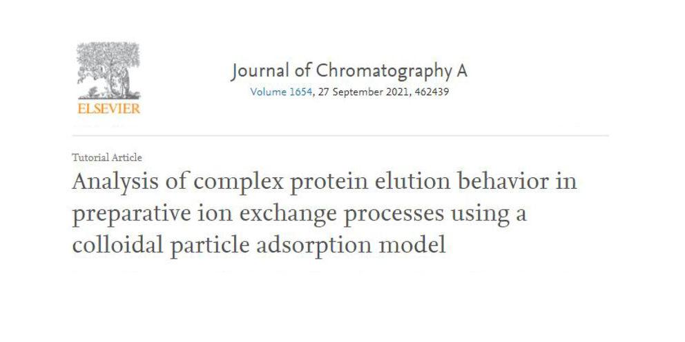 """Wissenschaftliche Veröffentlichung """"Analysis of complex protein elution behavior in preparative ion exchange processes using a colloidal particle adsorption model"""""""