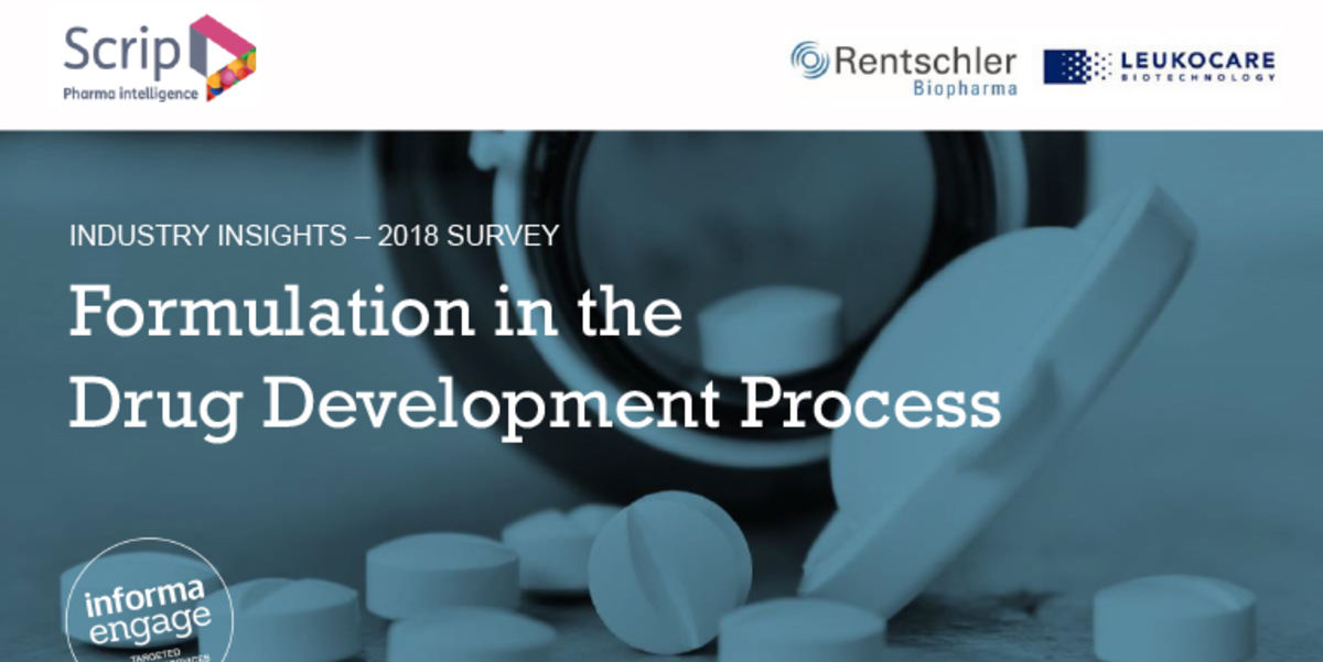 Informa 2018 Survey predicts Drug Product Formulation Recognition and Budgets to increase significantly