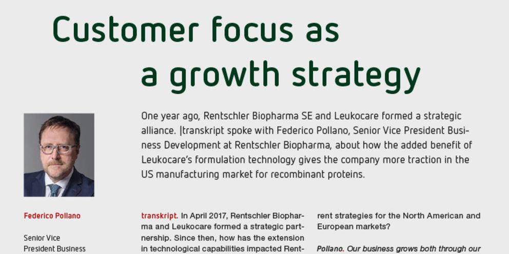 Customer focus as a growth strategy
