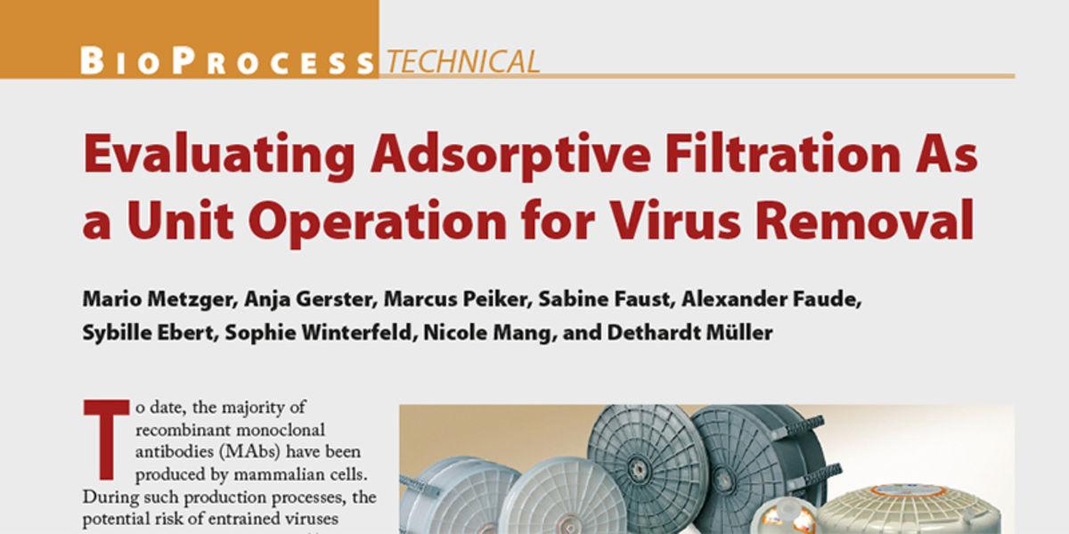 Artikel in BioProcess International, Feb 2015