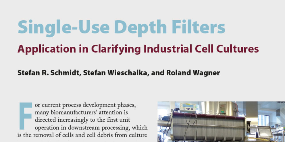 Article in Bioprocess International 14 January 2017 Featured Report