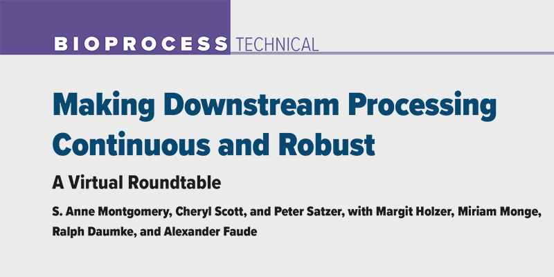 Making Downstream Processing Continuous and Robust