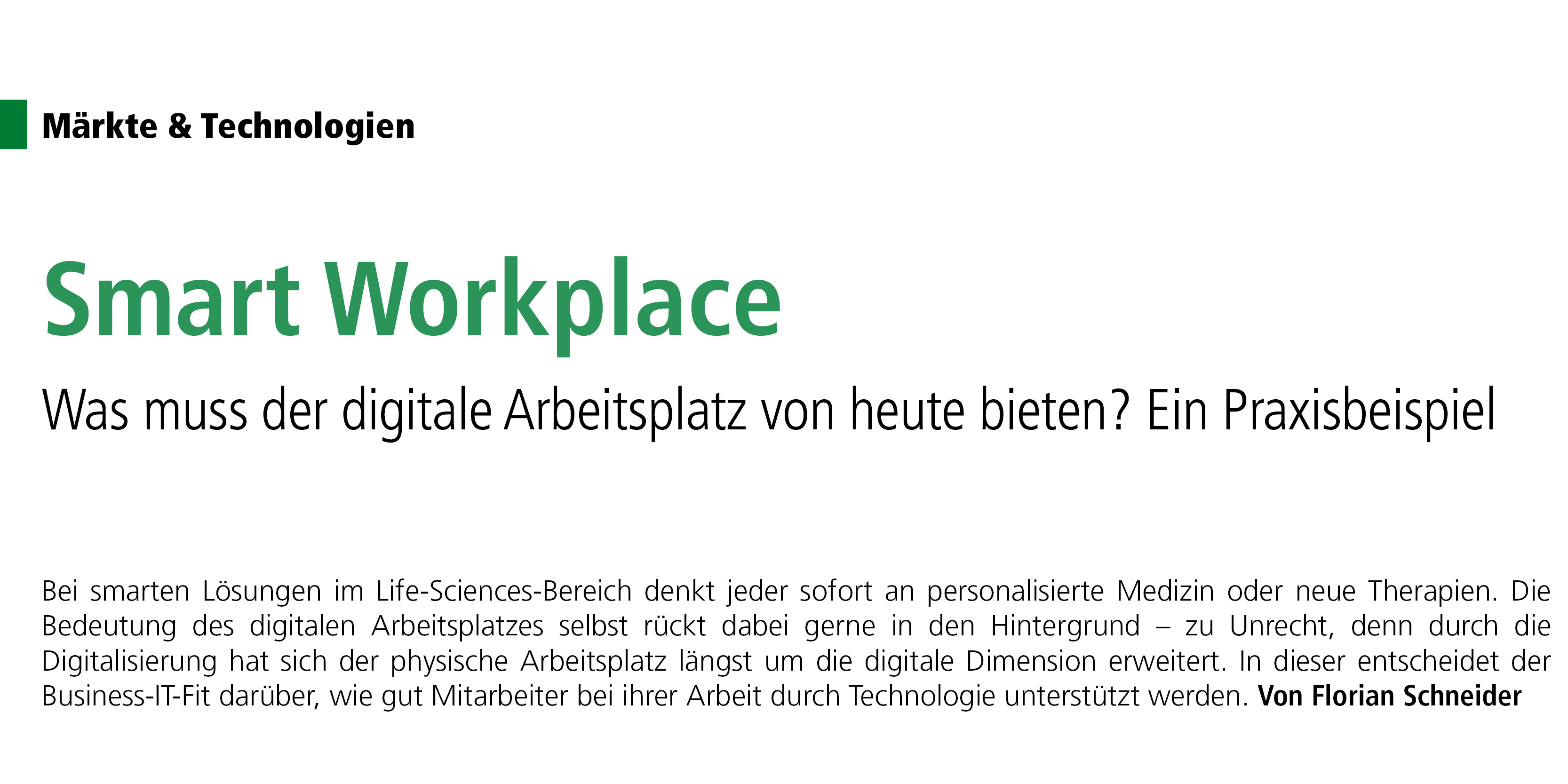 The Smart Workplace at Rentschler Biopharma