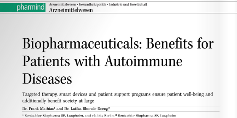 Biopharmaceuticals: Benefits for patients with autoimmune diseases
