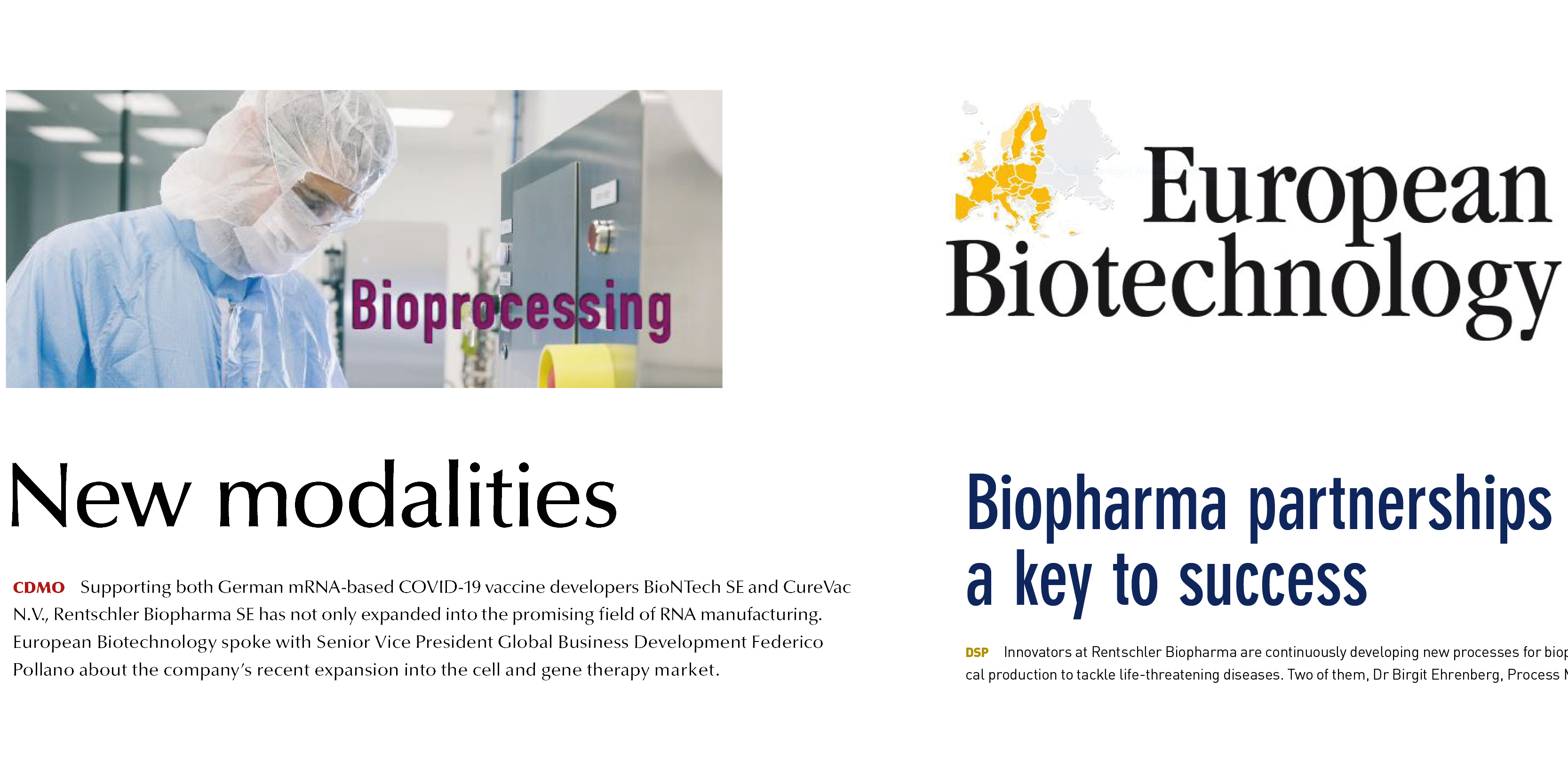 New Modalities and Biopharma Partnerships