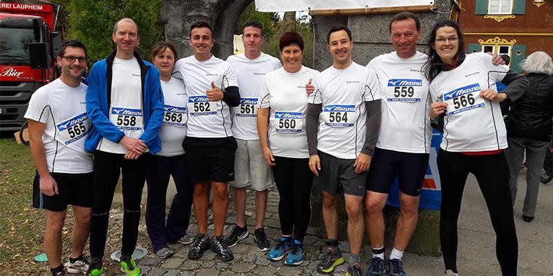 Fitte Rentschler Biopharma-Teams beim 17. Schloss-Cross um das Laupheimer Schloss